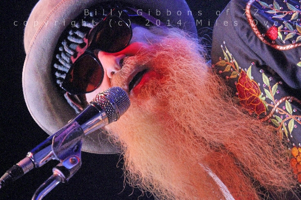Billy Gibbons Photo by: Miles Overn copyright (c) 2014